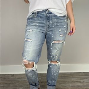 Jolene Distressed Girlfriend Jeans